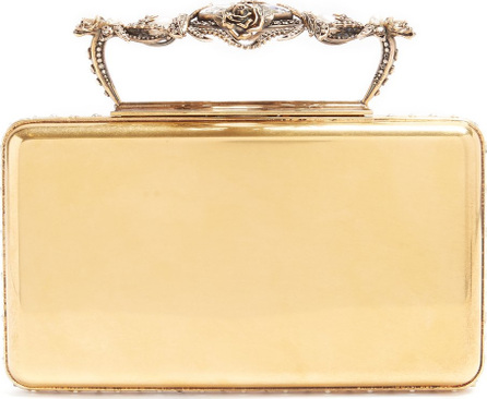 Alexander McQueen Pearl and crystal-embellished clutch