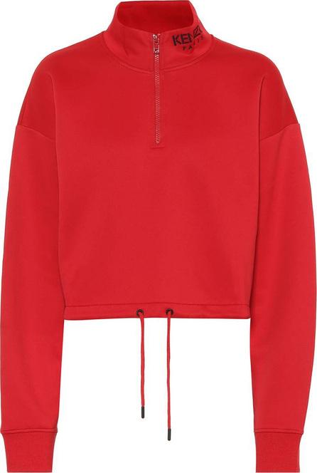 KENZO Cropped cotton-blend sweatshirt