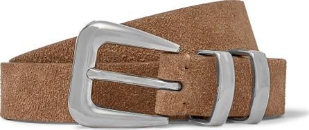 Brunello Cucinelli Light-Brown Suede Belt