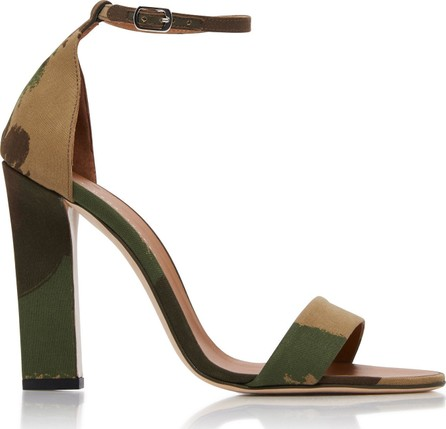 Victoria Beckham Anna Camouflage Canvas Sandals