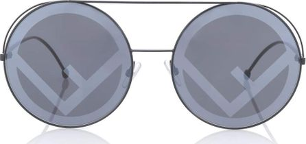 Fendi Run Away oversized round sunglasses