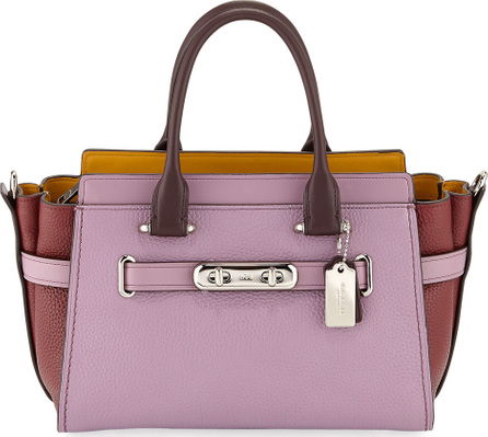 COACH 1941 Swagger 27 Colorblock Pebbled Leather Tote Bag