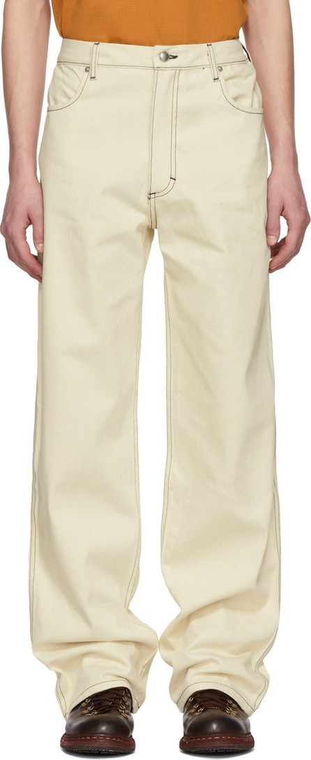 Eckhaus Latta Off-White Wide-Leg Jeans