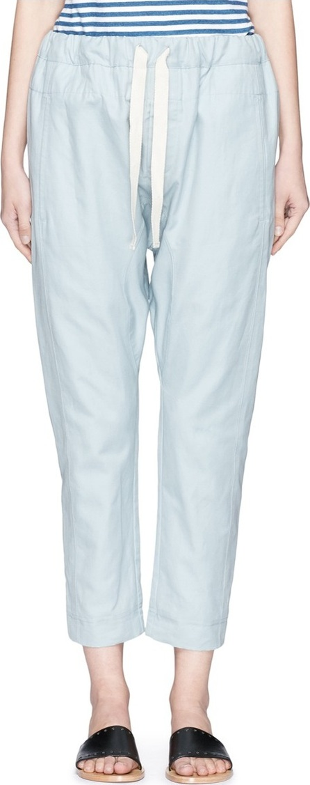 Bassike 'Relaxed Pant II' in woven slub cotton-linen