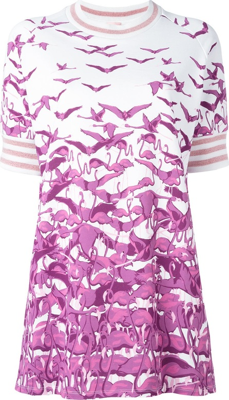 GIAMBA bird print T-shirt dress