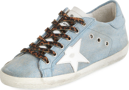 Golden Goose Deluxe Brand Superstar Jeans Denim Low-Top Sneakers