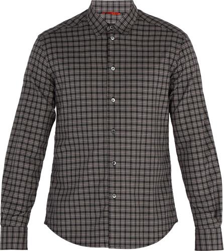 Barena Venezia Point-collar checked cotton shirt