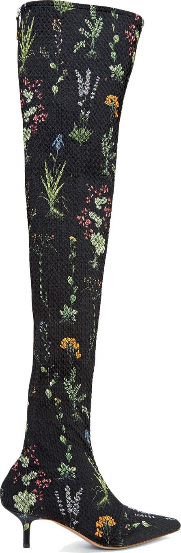 Altuzarra Elliot floral-print matelassé over-the-knee boots