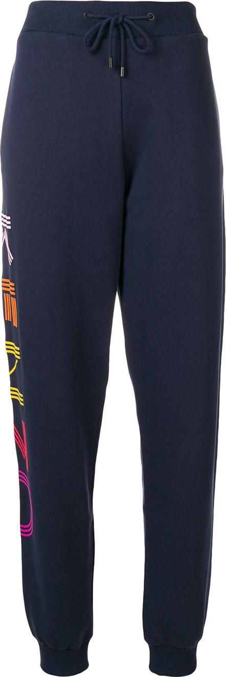KENZO High waisted logo track pants