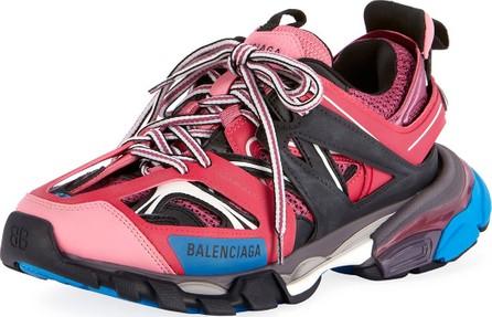 Balenciaga Mixed-Media Leather Track Sneakers