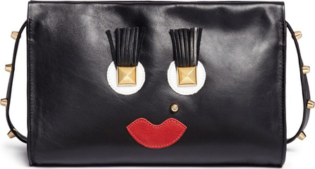 A-Esque 'Box Clutch Midi 02 Happy' leather bag