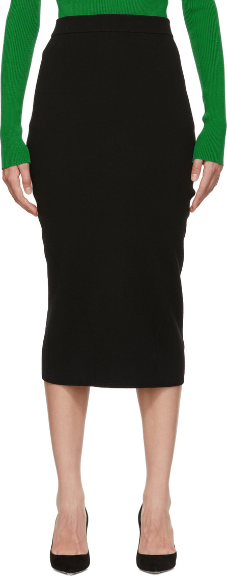 Victoria Beckham Black Signature Fitted Skirt