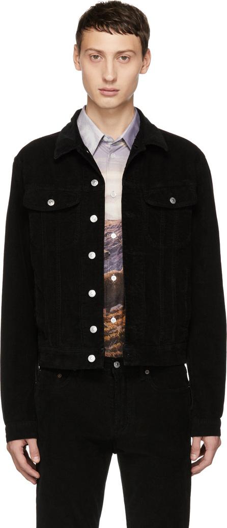 Acne Studios Blå Konst Black Corduroy Tent Jacket