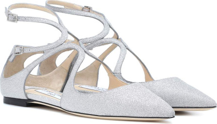 Jimmy Choo Lancer glitter leather ballerinas