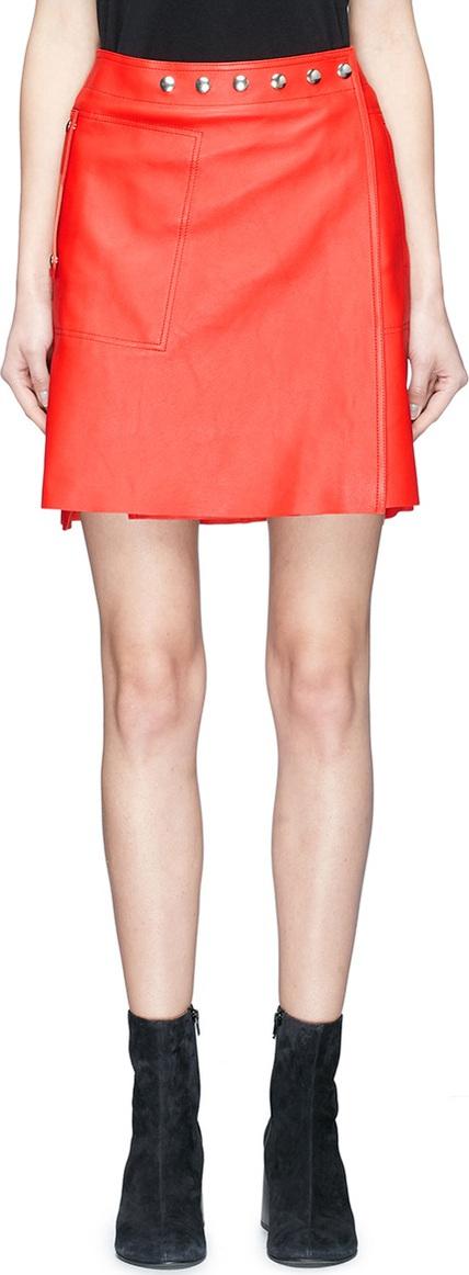 Acne Studios - 'Shirin' lambskin leather wrap skirt