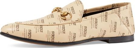 Gucci Leather Gucci Invite Print Loafer