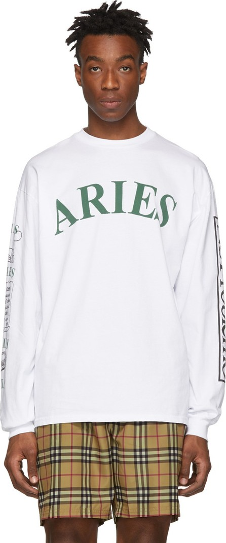 Aries White Warriors Long Sleeve T-Shirt
