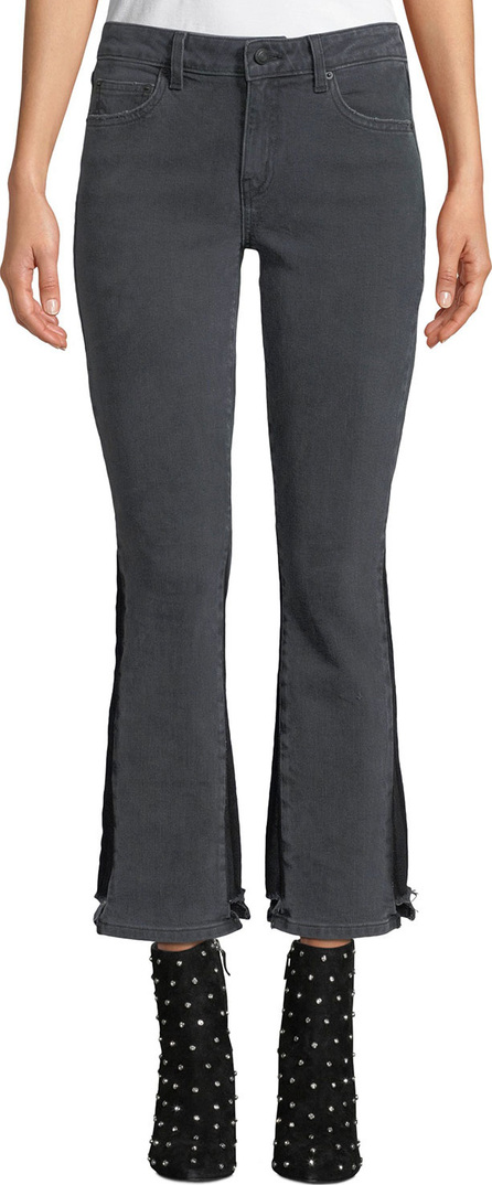 Derek Lam 10 Crosby Gia Mid-Rise Cropped Flare-Leg Jeans