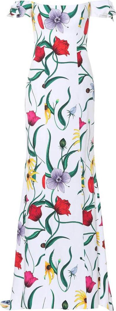 Carolina Herrera Floral cotton-blend gown