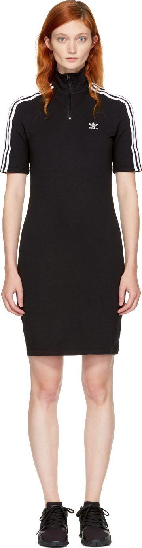Adidas Originals Black 3-Stripes High Neck Dress