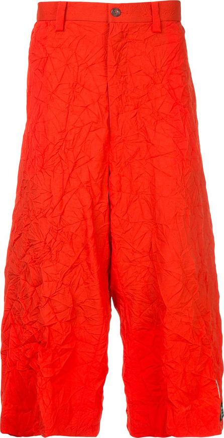 FACETASM Facetasm x Woolmark crinkle-effect drop crotch trousers