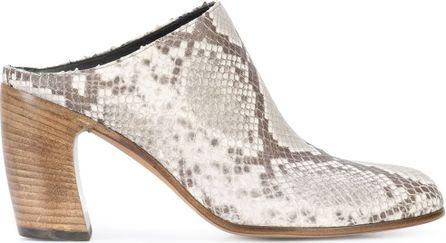 Ann Demeulemeester snake-effect mules