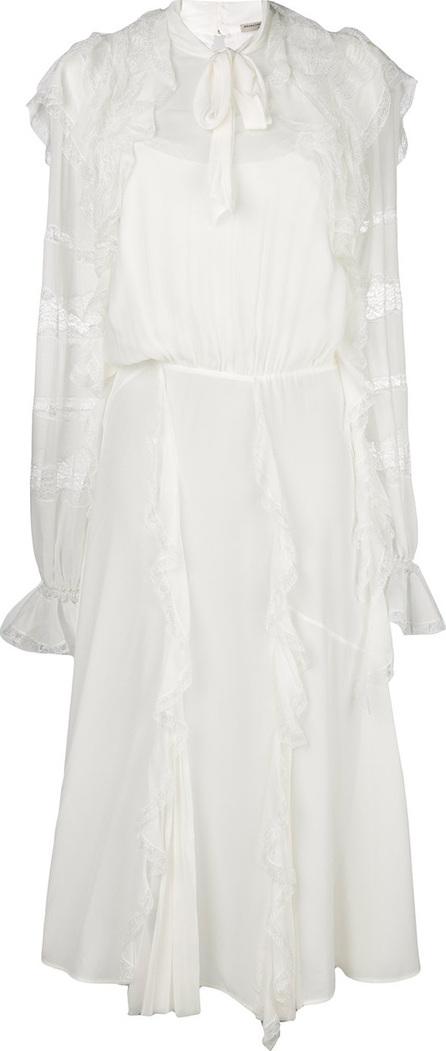 Ermanno Scervino Lace and frill trim midi dress