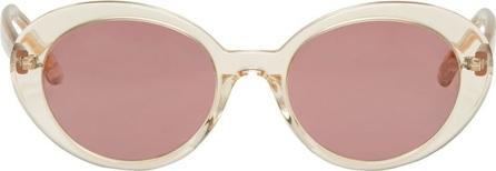 Oliver Peoples Beige Parquet Sunglasses