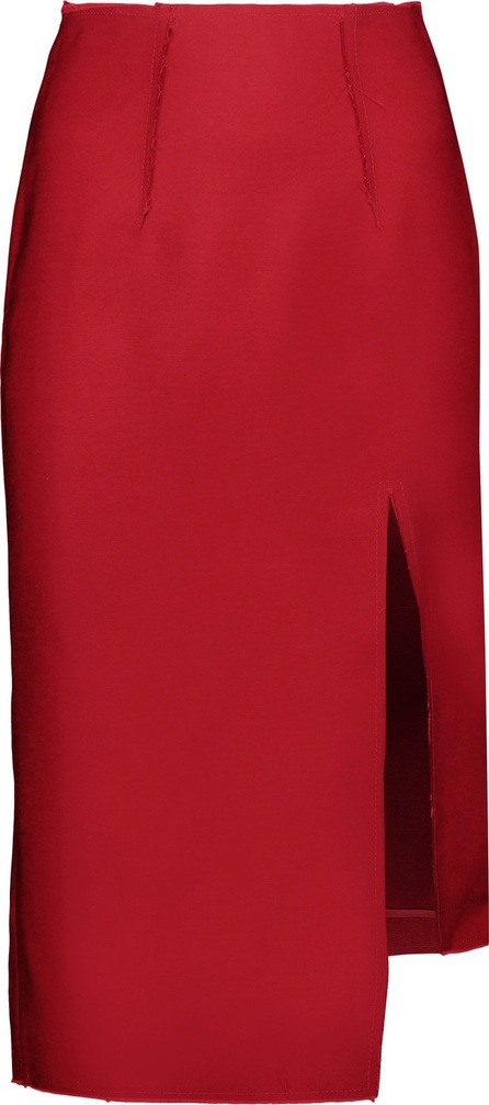Acne Studios Lynton wool and silk-blend skirt