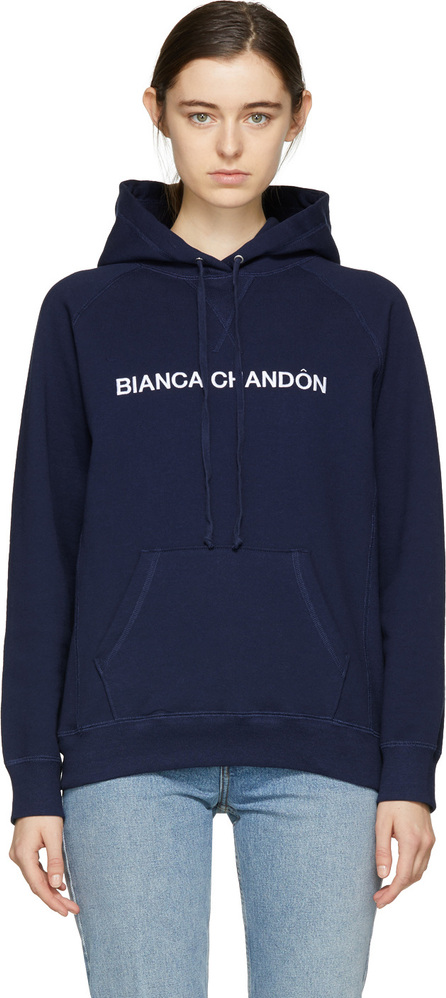 Bianca Chandon Navy Logotype Hoodie