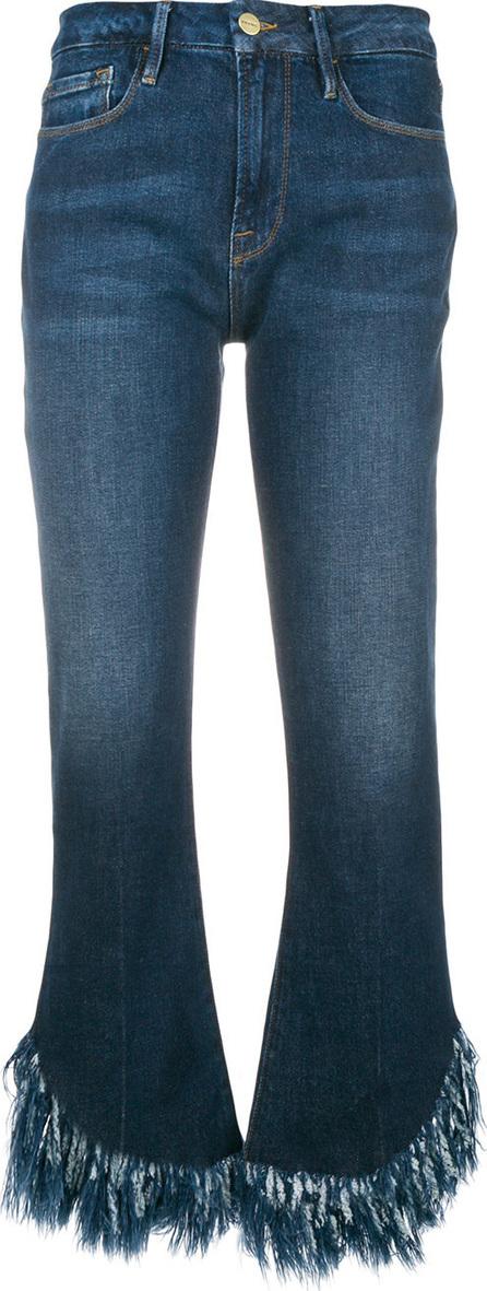 FRAME DENIM Frayed hem cropped jeans