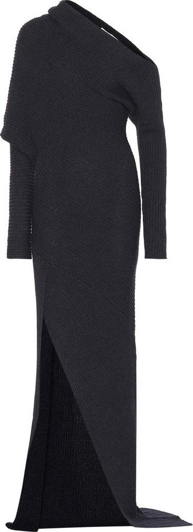 Roberto Cavalli Alpaca, silk and cashmere dress