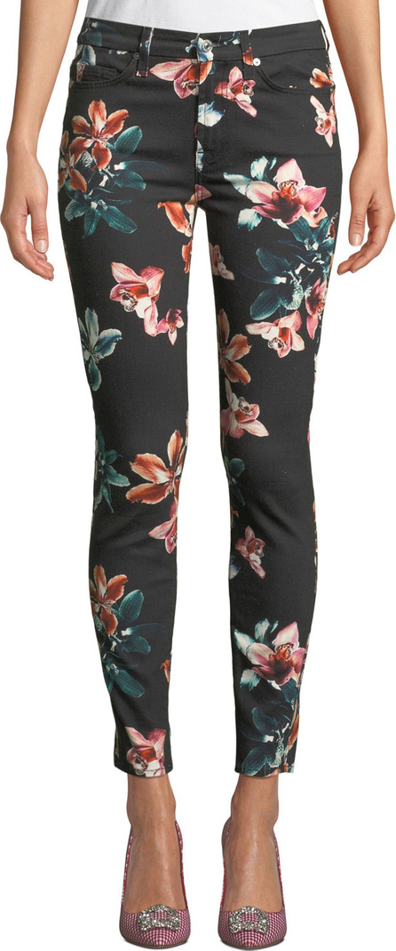 7 For All Mankind Tropical Floral-Print Ankle Skinny Jeans