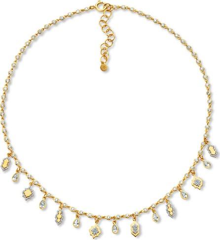 Buddha Mama 20k Diamond Lantern Necklace