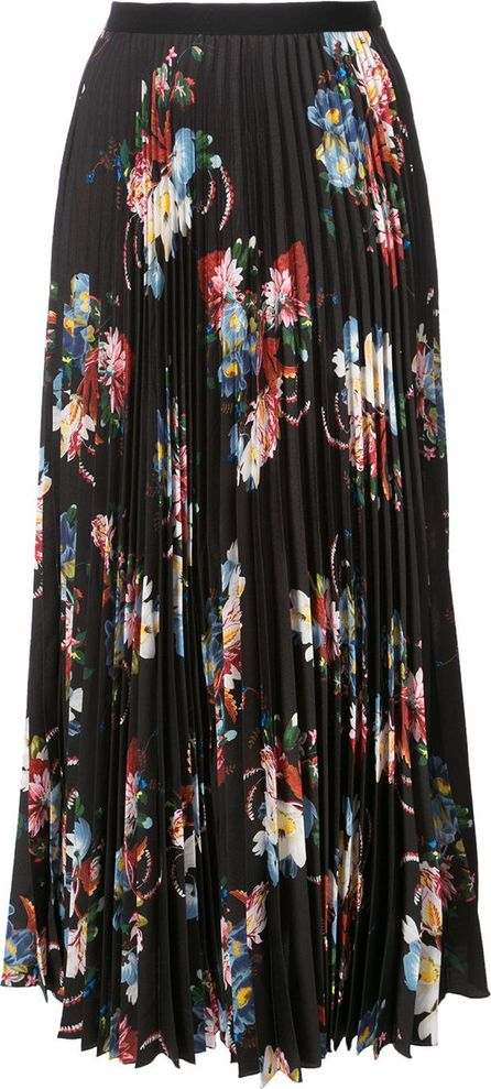Erdem floral-print pleated skirt