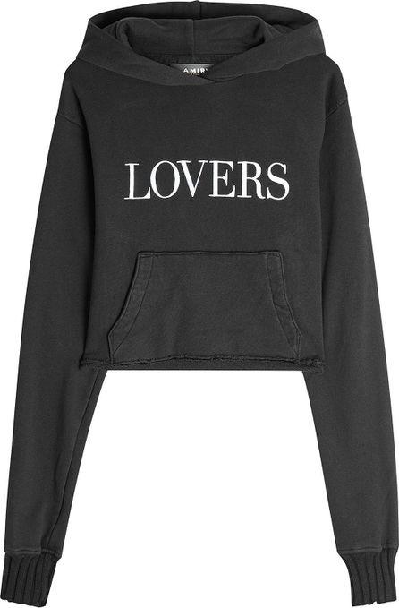 Amiri Lovers Printed Cotton Hoodie