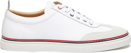 Thom Browne Contrast stripe leather sneakers