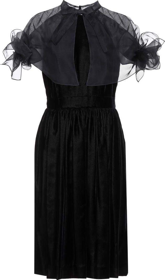 Carolina Herrera - Velvet and organza dress