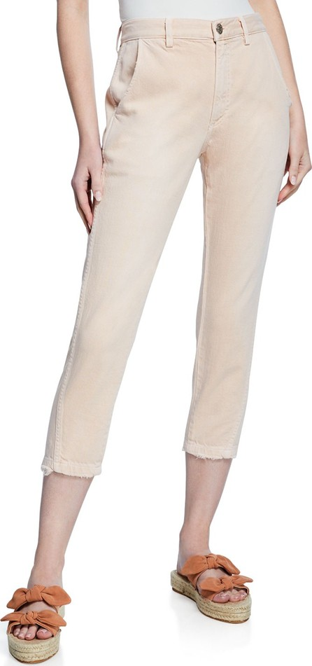 AMO Slouch Cropped Straight-Leg Trousers