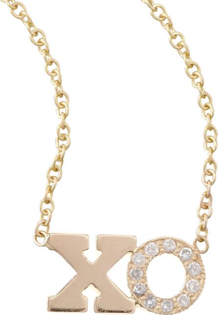 Zoe Chicco Pave Diamond XO Pendant Necklace