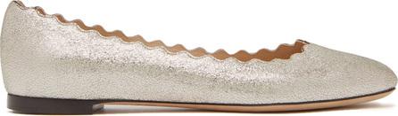 Chloe Lauren scallop-edge leather ballet flats