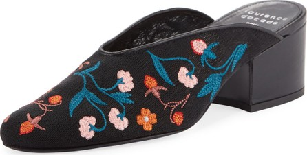 Laurence Dacade Rissy 30mm Embroidered Mules