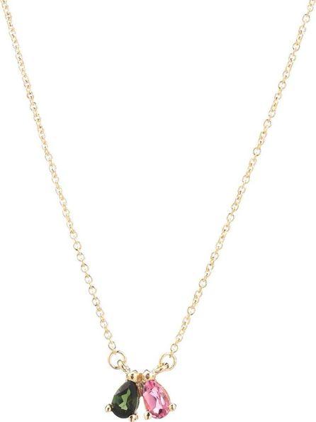 Aliita Tu Y Yo Gota Duo 9kt gold and tourmaline necklace
