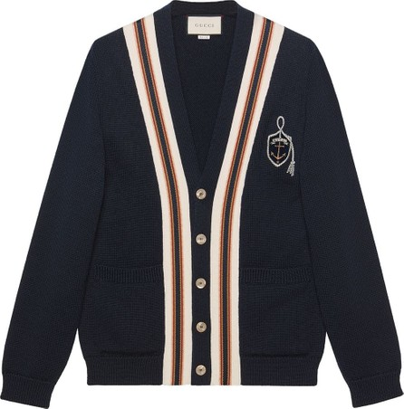 Gucci Wool cardigan with anchor crest