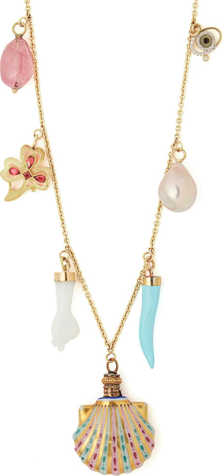 Brigid Blanco - 18kt gold charm necklace