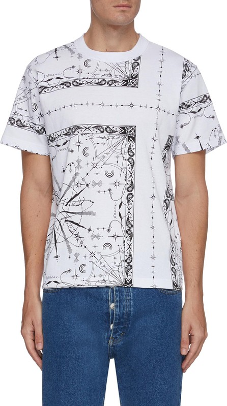 Sacai x Dr Woo bandana print T-shirt