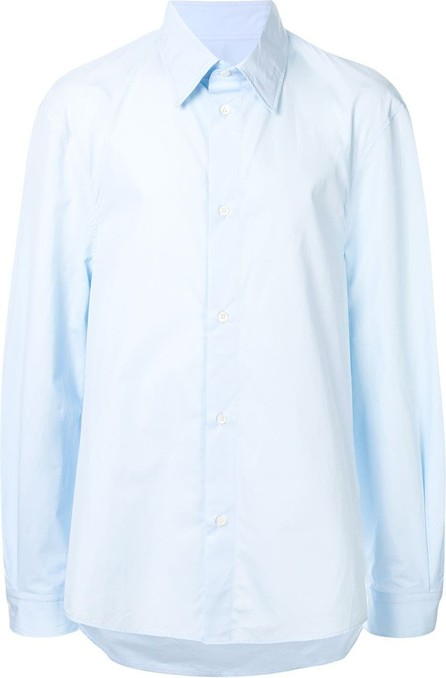 Hed Mayner Pointed collar boxy-fit shirt