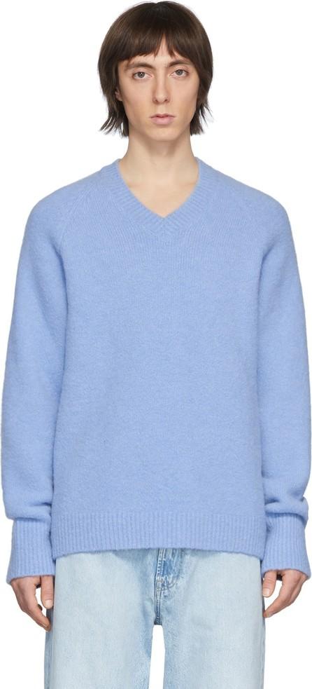 Our Legacy Blue Fuzzy Raglan Sweater