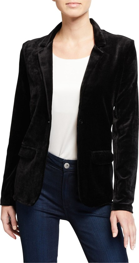 Majestic One Button Velvet Blazer