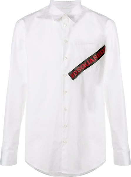 DSQUARED2 Contrast logo shirt